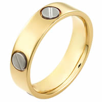 Item # 115151E - 18 kt Gold Wedding Ring