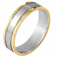 Hand Made 5.5mm Wide, Comfort Fit Wedding Band