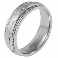 Item # 115321PP - Platinum Hand Made Wedding Band