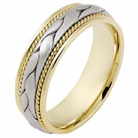 Item # 115331E - Two-Tone Wedding Band 18kt Hand Made