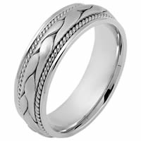 Item # 115331PP - Platinum hand made Wedding Band