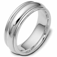 Platinum 7.0mm Wide, Comfort Fit Wedding Band
