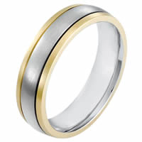 18K Gold 6.0mm Wide, Comfort Fit Wedding Band
