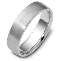 Item # 115441AG - Silver Comfort fit 6.0mm Wide Wedding Band
