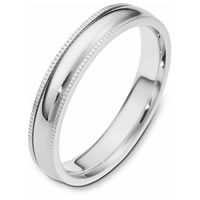 Wedding Ring 18 kt White Gold omfort fit Band