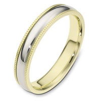 14 K Gold 4.0mm Wide, Comfort Fit Wedding Band