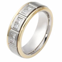 Item # 115641E - 18KT Gold Diamond Wedding Band