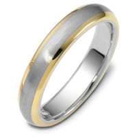 Gold, Comfort Fit, 5.0mm Wide Wedding Band