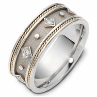 Item # 115891E - 18K Gold Diamond Wedding Band