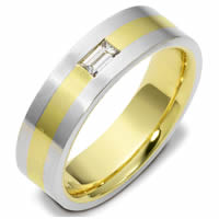 Item # 115951PE - Platinum-18K Gold Diamond Wedding Band