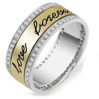 Item # 11598E - 18K Engraved Eternity Ring