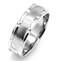 Palladium, Comfort Fit, 7.0mm Wide Wedding Band