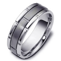 Item # 115991TG - Titanium-Gold, Comfort Fit, Wedding Band