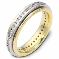 Platinum- 18 K Gold Diamond Eternity Ring