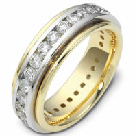 Item # 116141PE - Platinum-18K Gold Diamond Eternity Ring