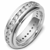 Item # 116141WE - 18K Gold Diamond Eternity Ring