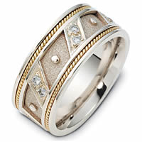 Item # 116241E - 18K Gold Diamond Wedding Band