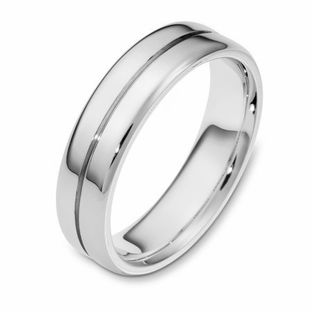 Item # 116441PP - Platinum hand made comfort fit Wedding Band 6.0 mm wide. The ring is a polished finish. Different finishes may be selected or specified.