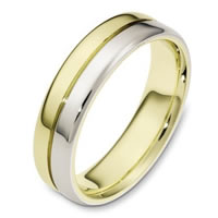 Item # 116441 - White and Yellow Gold Wedding Ring