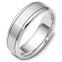 18K Gold Wedding Band Comfort Fit 7.0mm