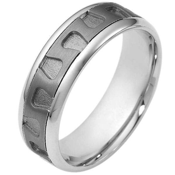 Item # 116461TG - Titanium and Gold Wedding Band View-1
