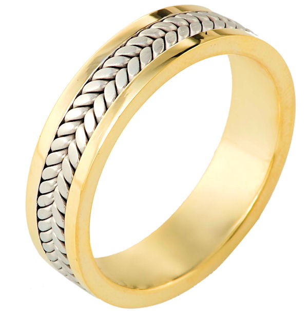 Gold, Comfort Fit, 5.5mm Wide Wedding Band
