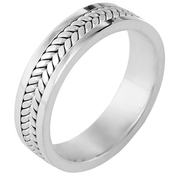 Platinum, Comfort Fit, 5.5mm Wide Wedding Band