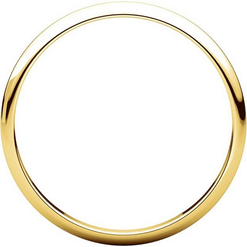 Item # 116761 View 2 - 14K Gold 2mm Wide Plain Wedding Ring