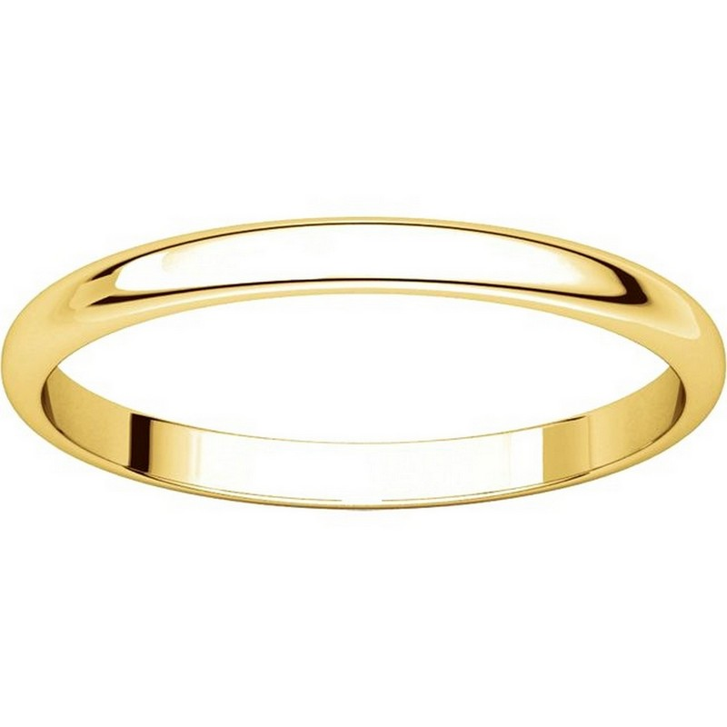 Item # 116761 View 3 - 14K Gold 2mm Wide Plain Wedding Ring