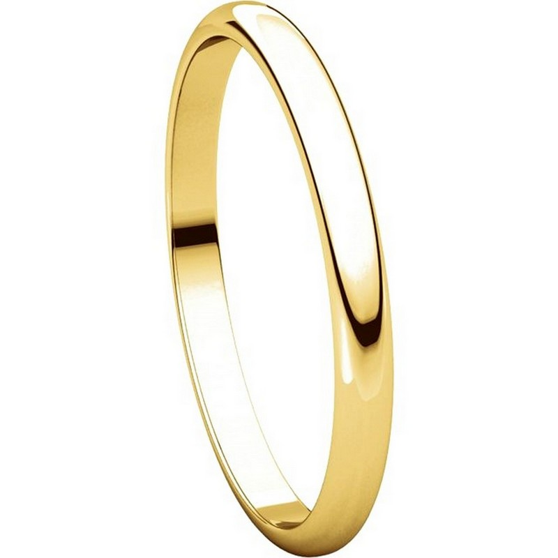 Item # 116761 View 5 - 14K Gold 2mm Wide Plain Wedding Ring