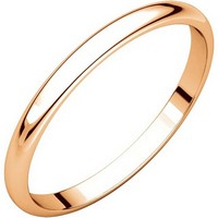 Item # 116761RE - 18K Rose Gold 2mm Women Plain Wedding Ring