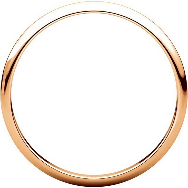 Item # 116761R View 2 - 14K Rose Gold 2mm Wide Plain Wedding Ring