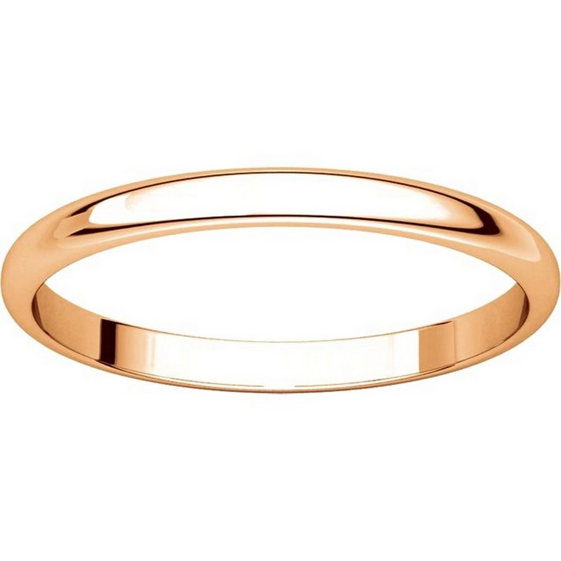 Item # 116761R View 3 - 14K Rose Gold 2mm Wide Plain Wedding Ring