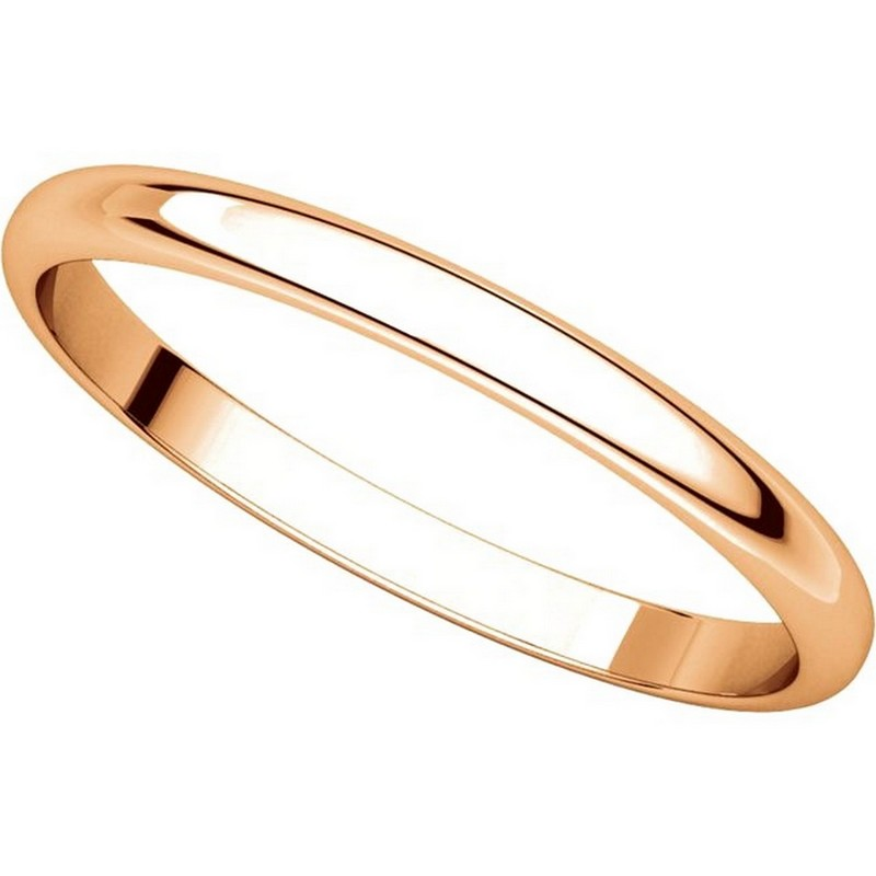 Item # 116761R View 4 - 14K Rose Gold 2mm Wide Plain Wedding Ring