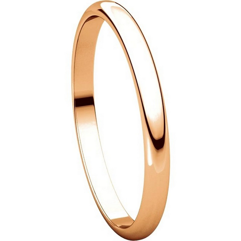 Item # 116761R View 5 - 14K Rose Gold 2mm Wide Plain Wedding Ring