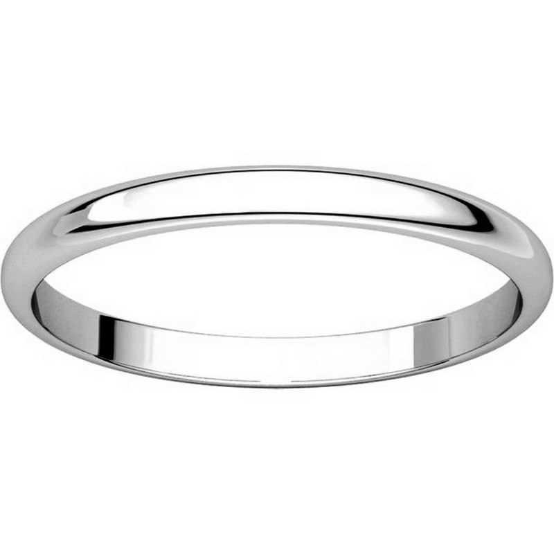 Item # 116761W - 14K Gold 2mm Wide Plain Wedding Ring View-3