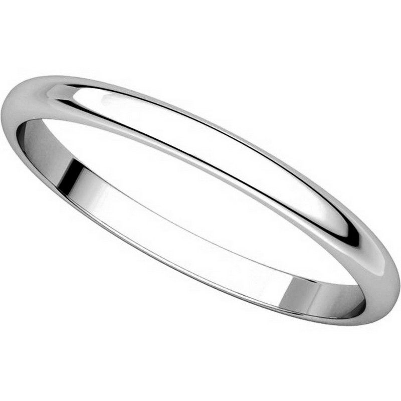 Item # 116761W - 14K Gold 2mm Wide Plain Wedding Ring View-4