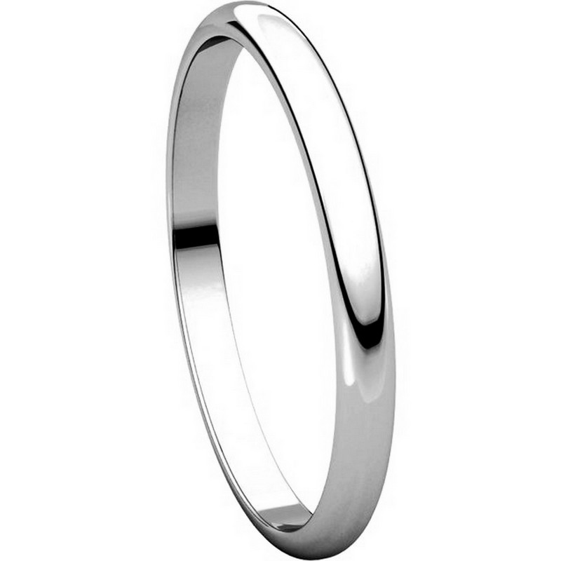 Item # 116761W - 14K Gold 2mm Wide Plain Wedding Ring View-5