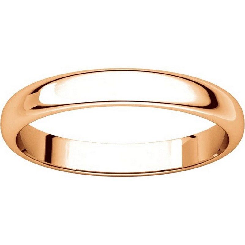 Item # 116801R View 3 - 14K Rose Gold 4mm Wide Wedding Ring