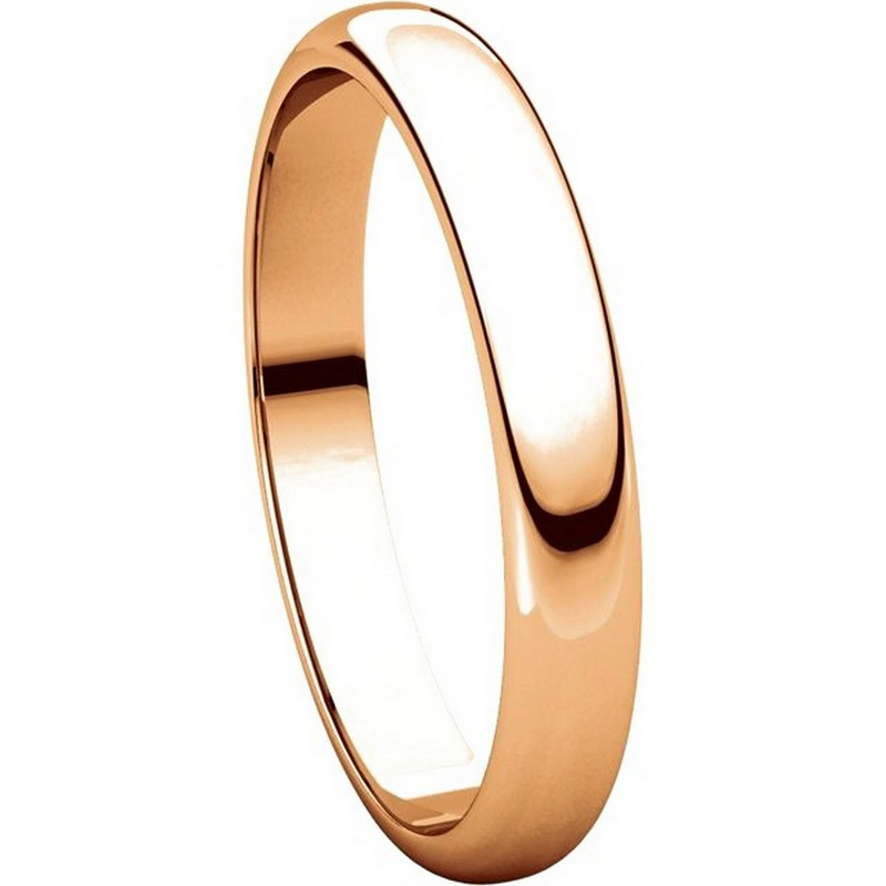 Item # 116801R View 5 - 14K Rose Gold 4mm Wide Wedding Ring