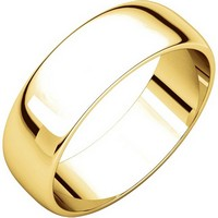 18K Yellow Gold 6 mm Wide Wedding Ring