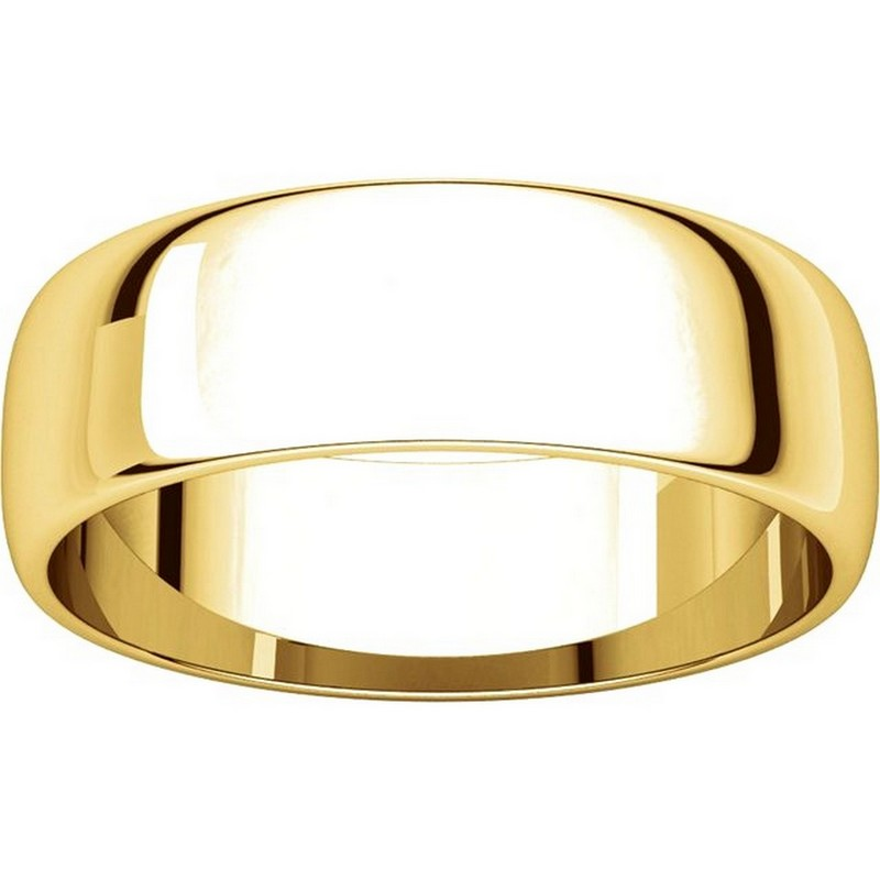 Item # 116821E View 3 - 18K Yellow Gold 6 mm Wide Wedding Ring