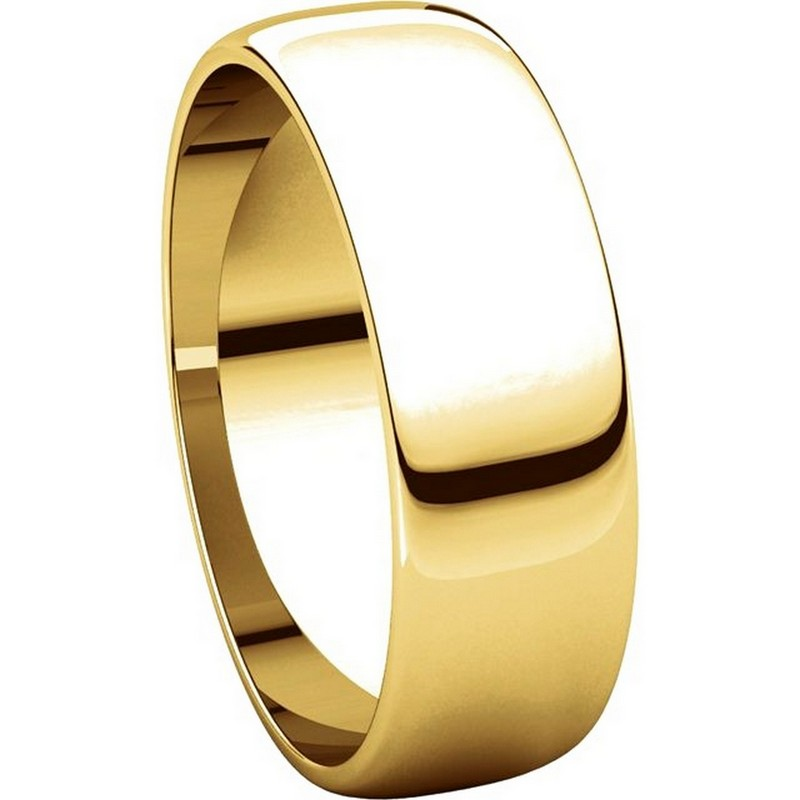 Item # 116821E View 5 - 18K Yellow Gold 6 mm Wide Wedding Ring