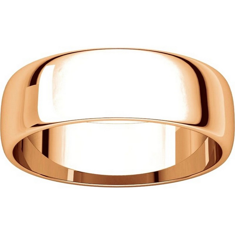 Item # 116821R View 3 - 14K Rose Gold 6mm Wide Wedding Ring