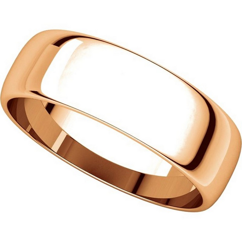 Item # 116821RE View 4 - 18K Rose Gold 6mm Wide Wedding Ring