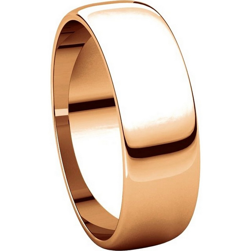 Item # 116821RE View 5 - 18K Rose Gold 6mm Wide Wedding Ring