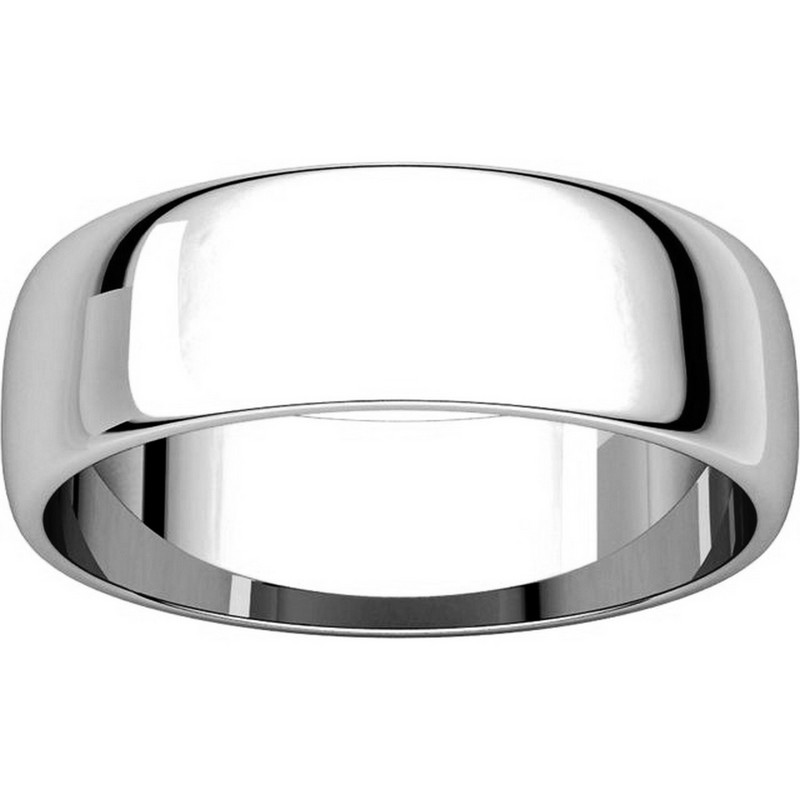 Item # 116821WE View 3 - 18K White Gold Wedding Ring. 6mm Wide