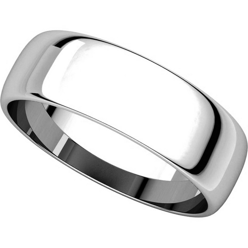 Item # 116821WE View 4 - 18K White Gold Wedding Ring. 6mm Wide