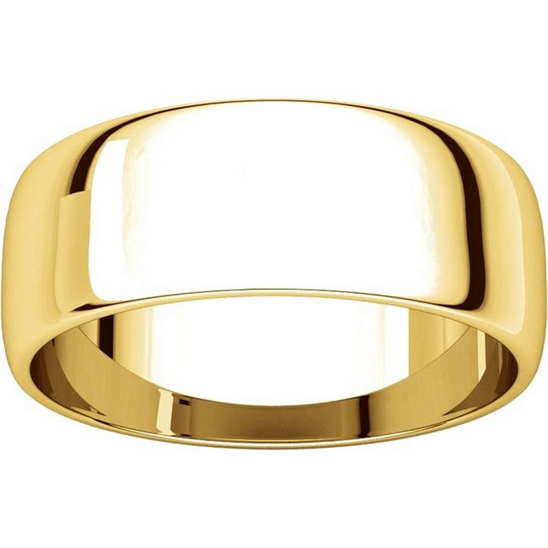 Item # 116831 View 3 - 14K Gold 7mm Wide  Wedding Rings