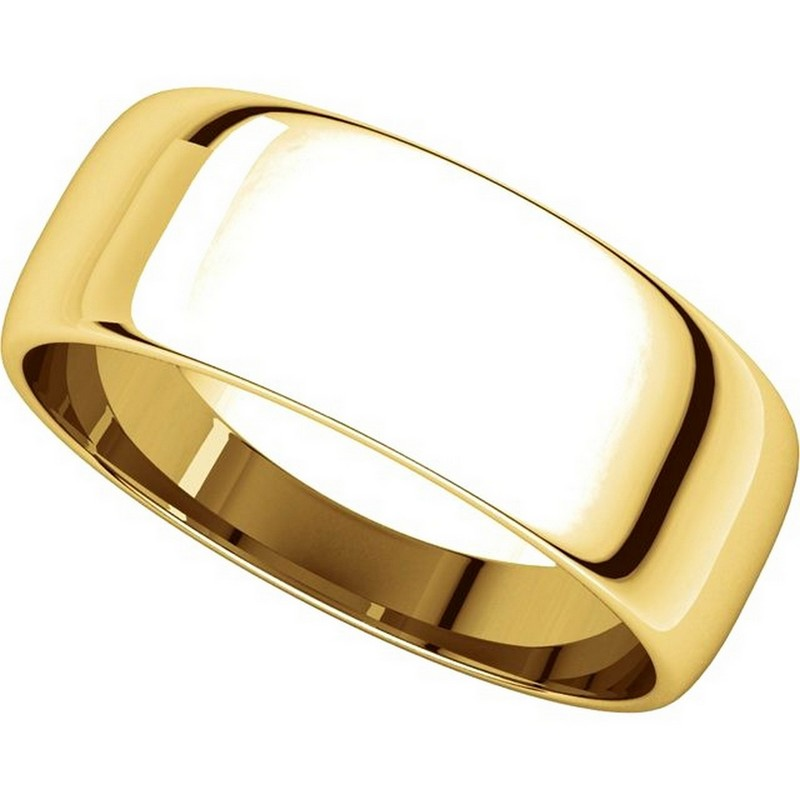 Item # 116831 View 4 - 14K Gold 7mm Wide  Wedding Rings